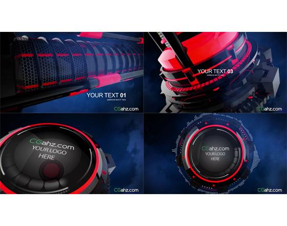 <strong>科技感的3D机械模型动画中的字幕展示和LOGO演绎AE工程</strong>