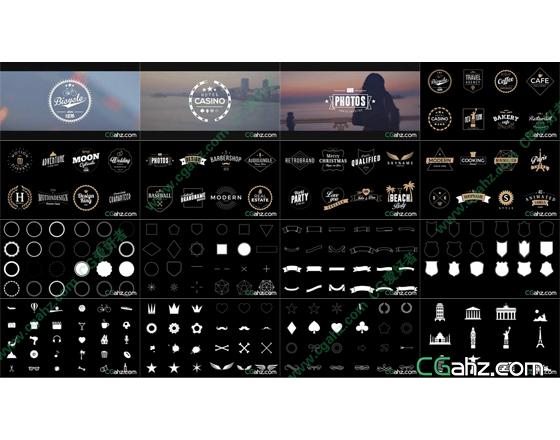 40款商标动画,和各种标志元素AE源文件模板免费下载