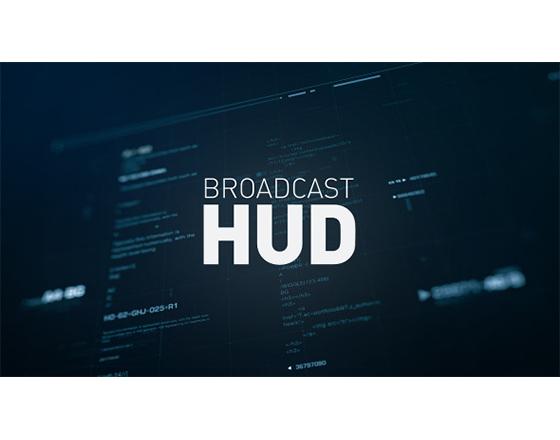 HUD 科技风格图形元素合集AE模板