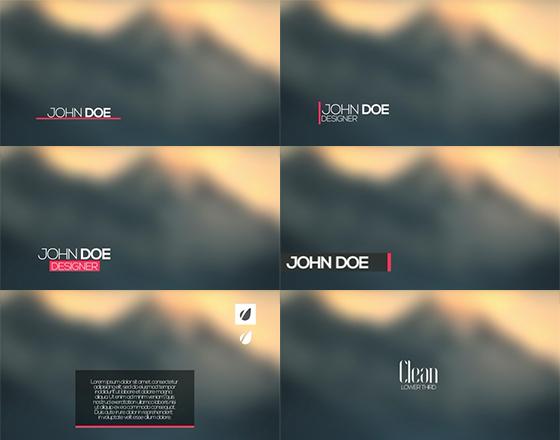 六个清新简洁的字幕动画AE模板