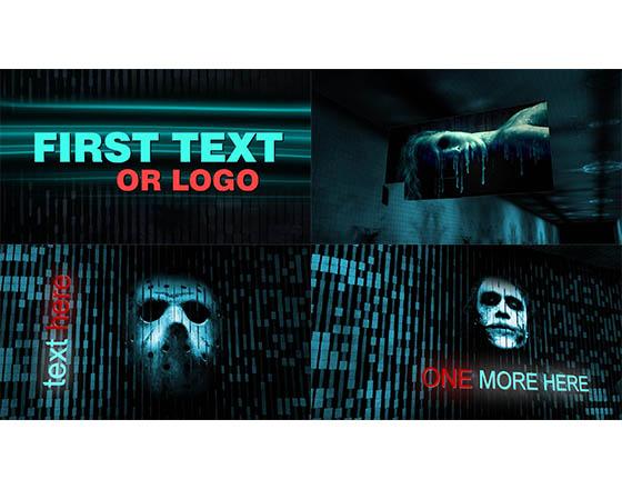 恐怖科幻的地下通道内图文展示AE模板