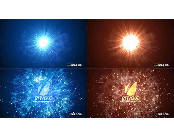 璀璨闪耀的星光粒子效果LOGO标志展示AE模板
