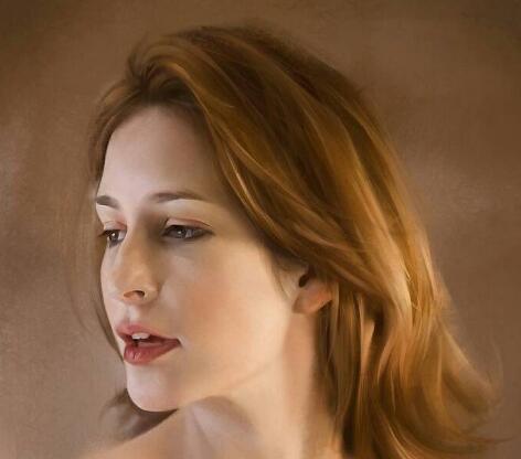 林冉的油畫美女作品集