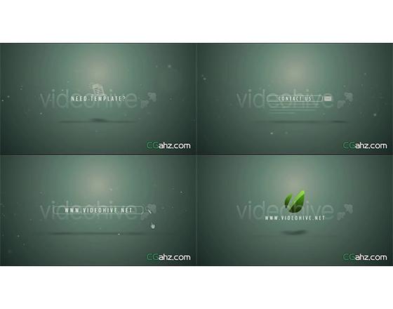 簡潔的旋轉方式企業網站宣傳片頭AE