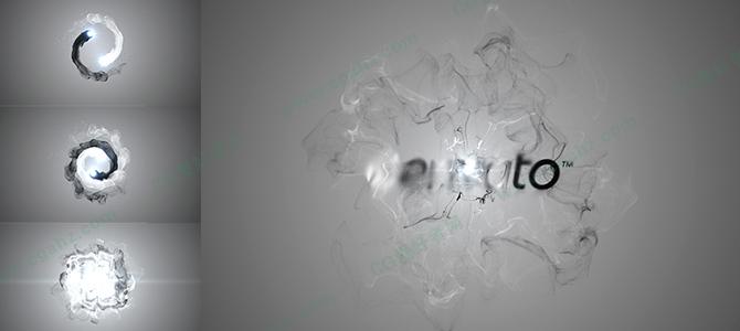 中国风阴阳水墨撞击效果LOGO展示AE模板