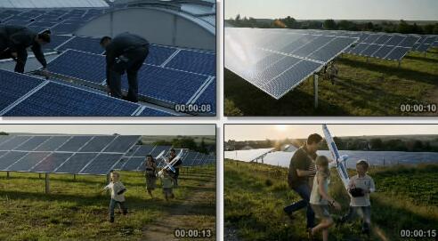 太阳能实拍片段