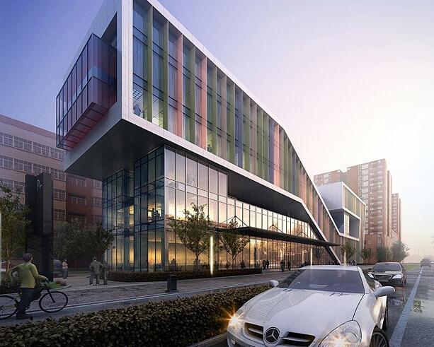 公建黄昏渲染建筑表现教程