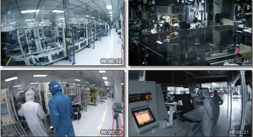高科技电子产品制作过程实拍片段